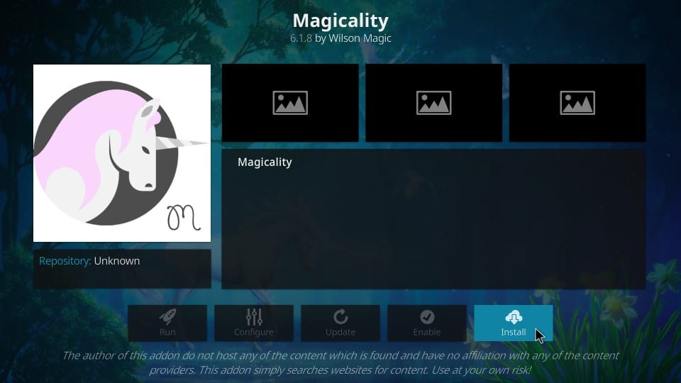 how to install Magicality kodi addon