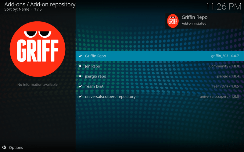 griffin repo installed