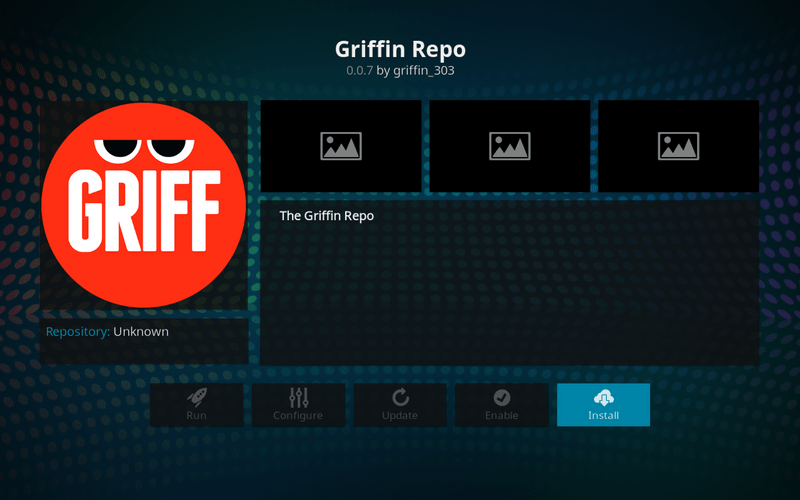 how to install griffin repo