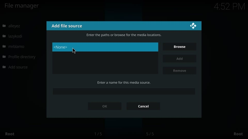 how to load diamond dust build on kodi