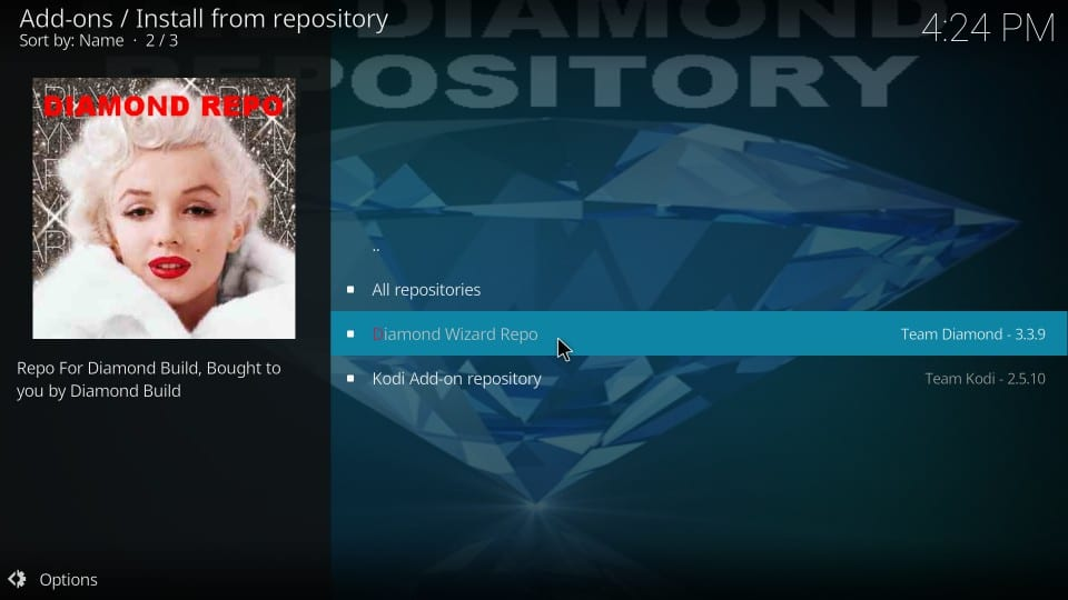 install diamond wizard repo on kodi
