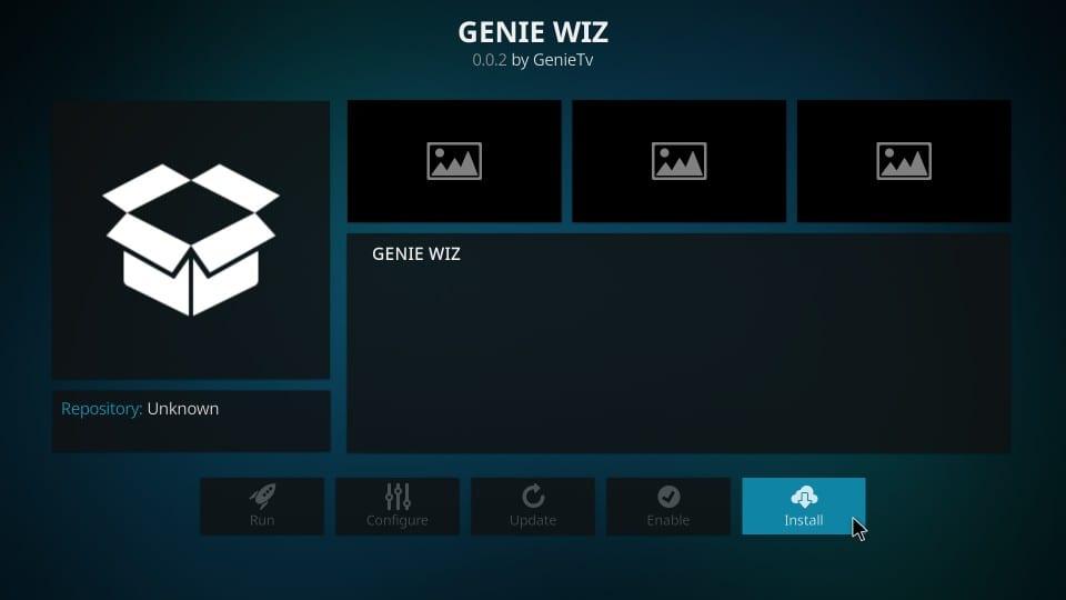 how to install genie wiz