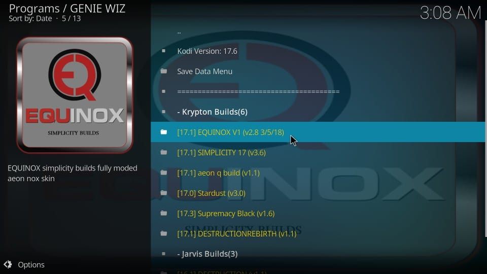 download equinox build