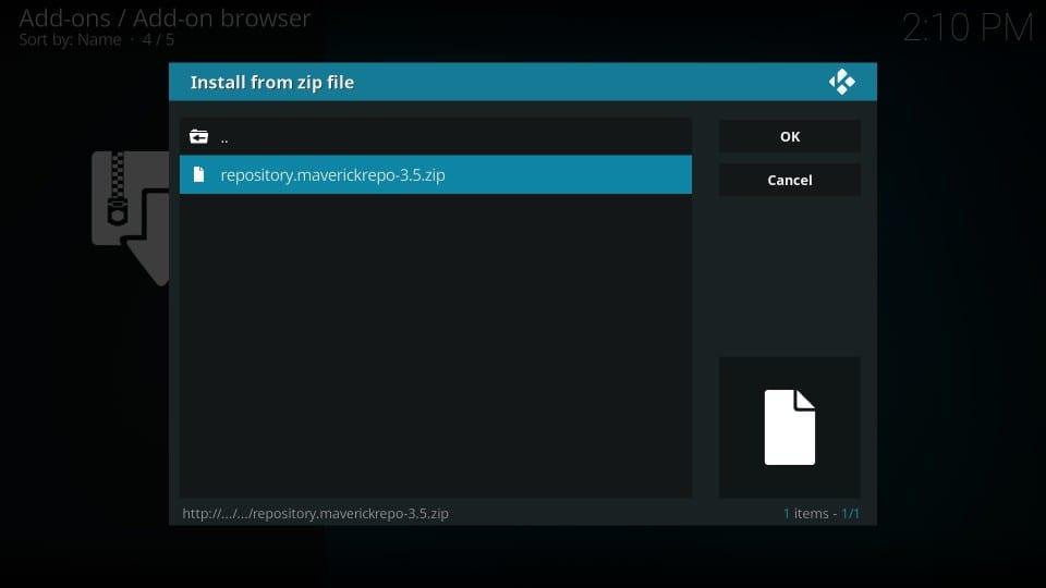 kodi repository installation