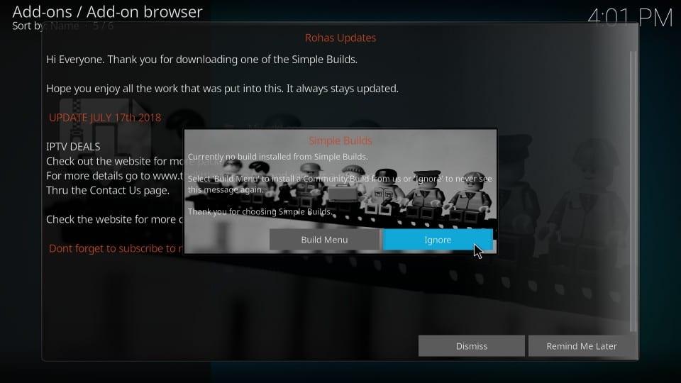 install nova build on kodi