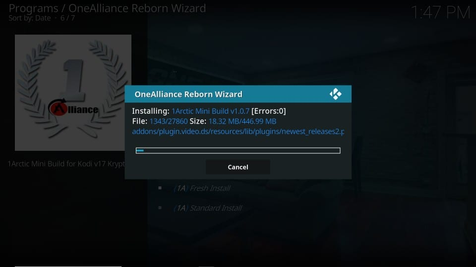 One Alliance Reborn kodi build