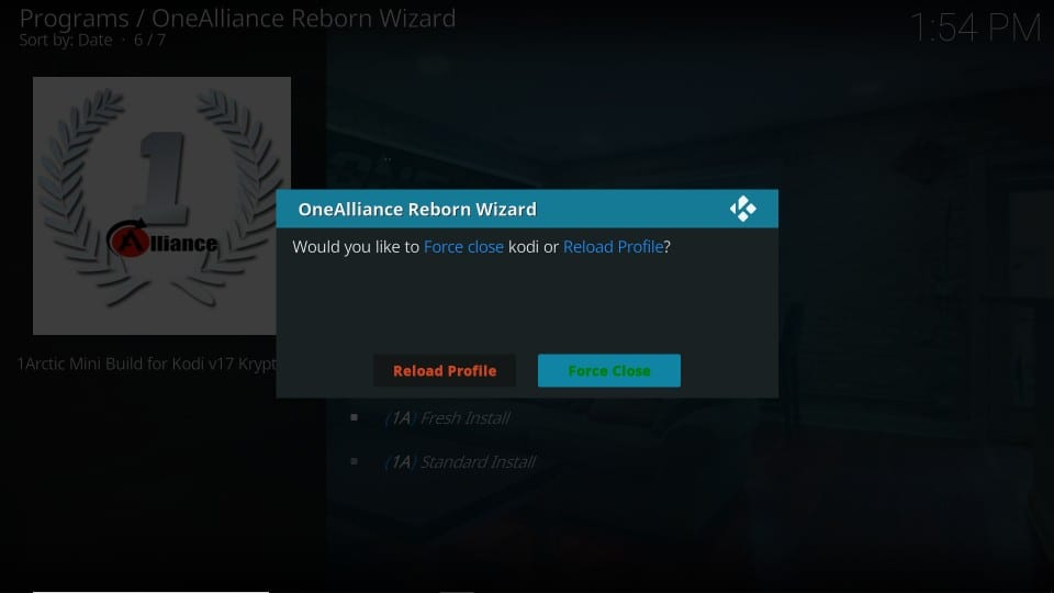 how to get One Alliance Reborn kodi build