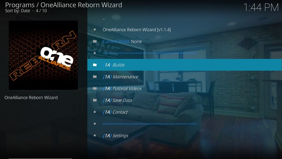 install one alliance reborn builds on kodi