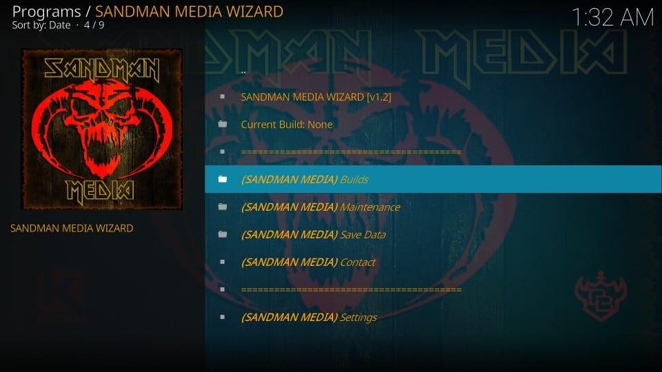 sandman media builds