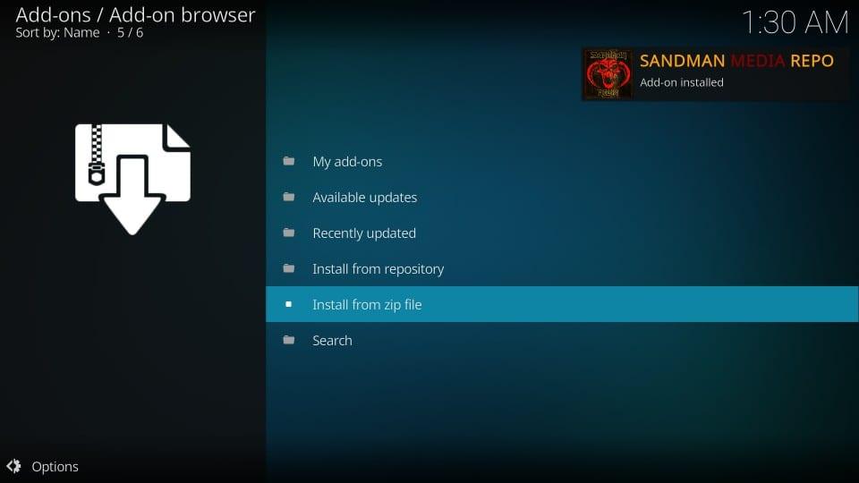 how to get sandman kodi builds