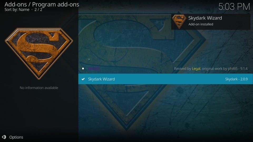 install skydark build