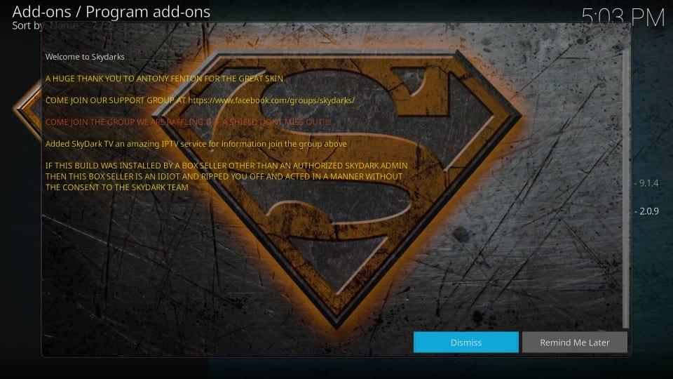 kodi skydark build