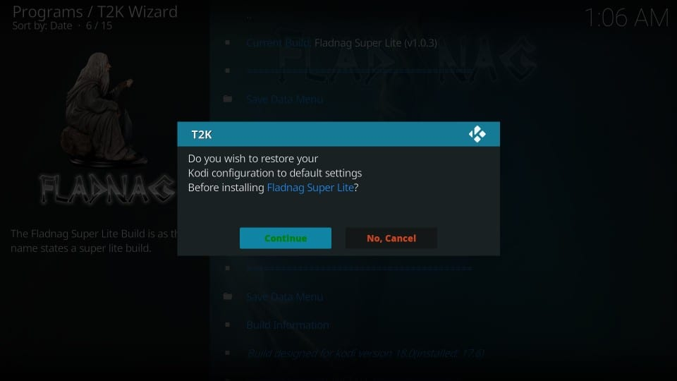 install fladnag kodi build