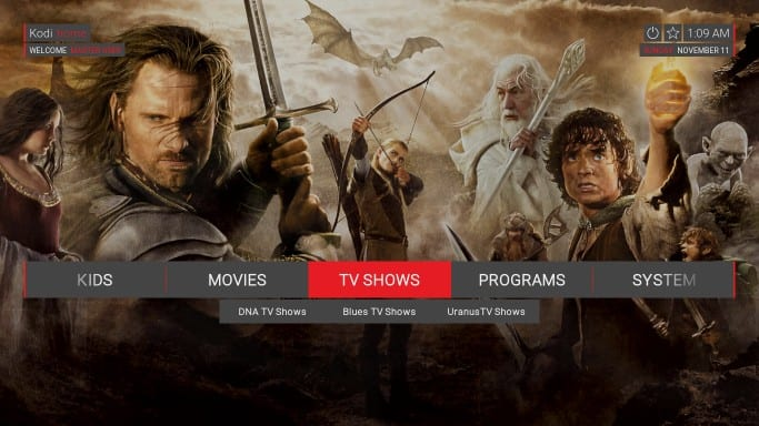 how to use Two Kingdoms kodi build
