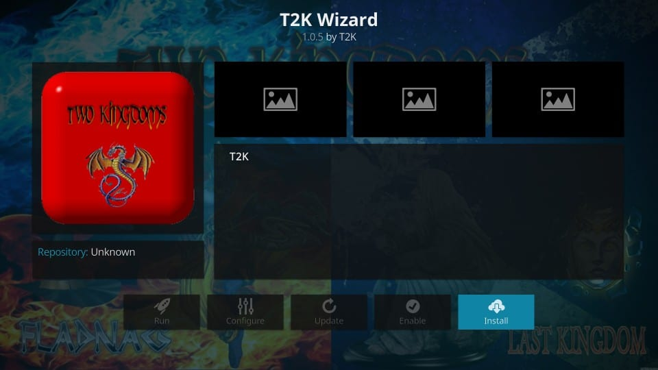install t2k wizard