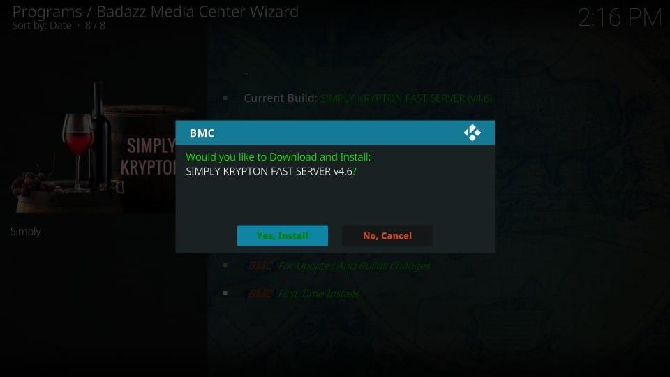 bmc build on kodi