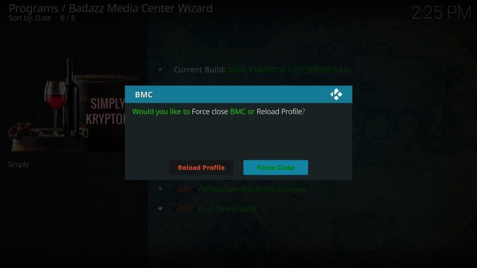 how to install bmc build on kodi