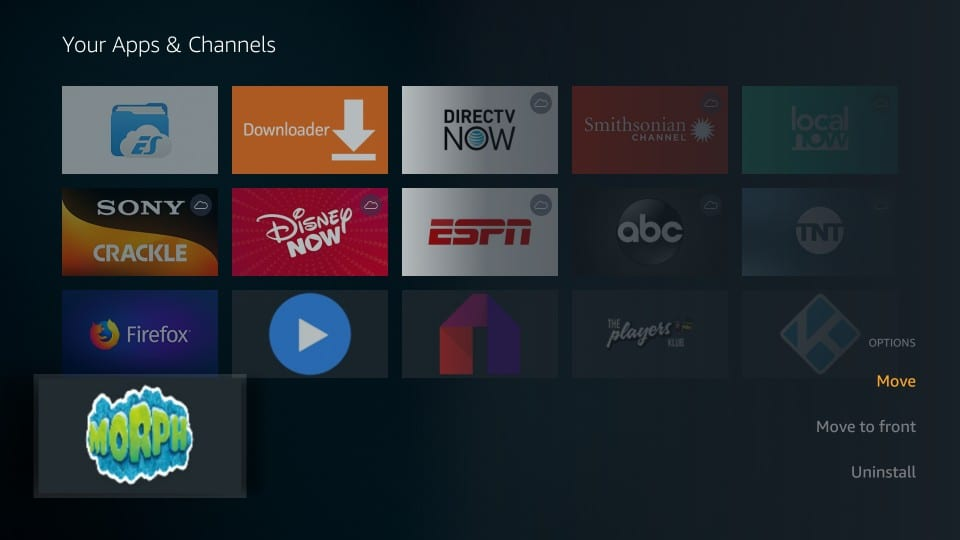 how to use morph tv on firestick