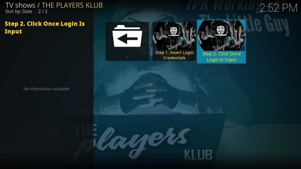 the players klub kodi addon
