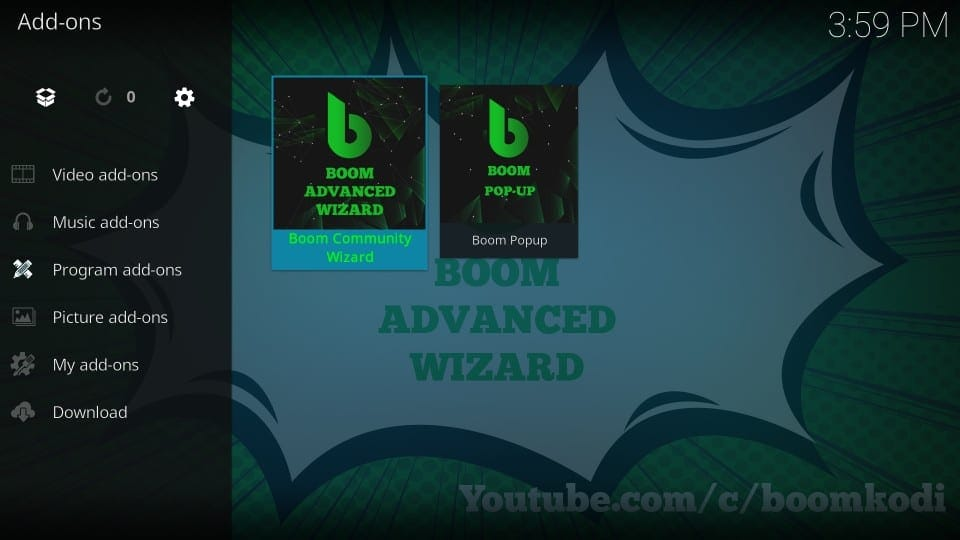 how to get boom builds on kodi