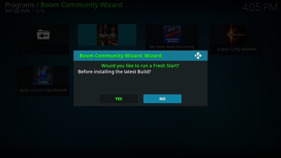 boom build on kodi