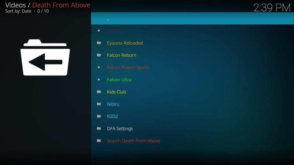 death from above kodi addons