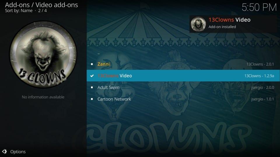13clowns video kodi