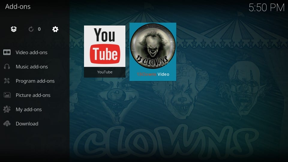 how to use 13 clowns on kodi