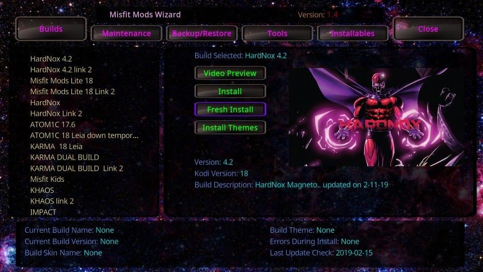 hardnox kodi build