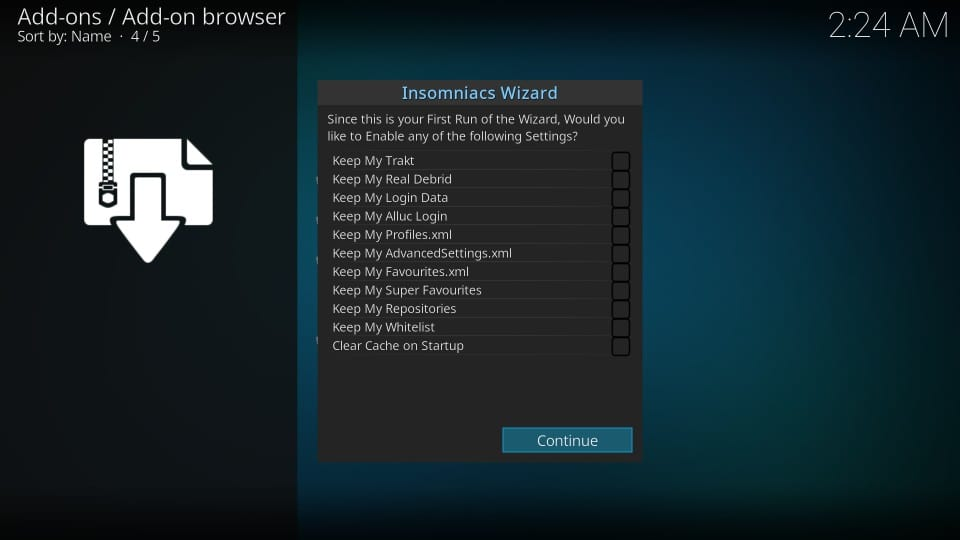 How to Install Insomniacs Builds on Kodi / FireStick (Step