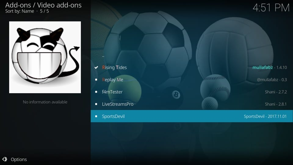 how to use rising tides addon on kodi
