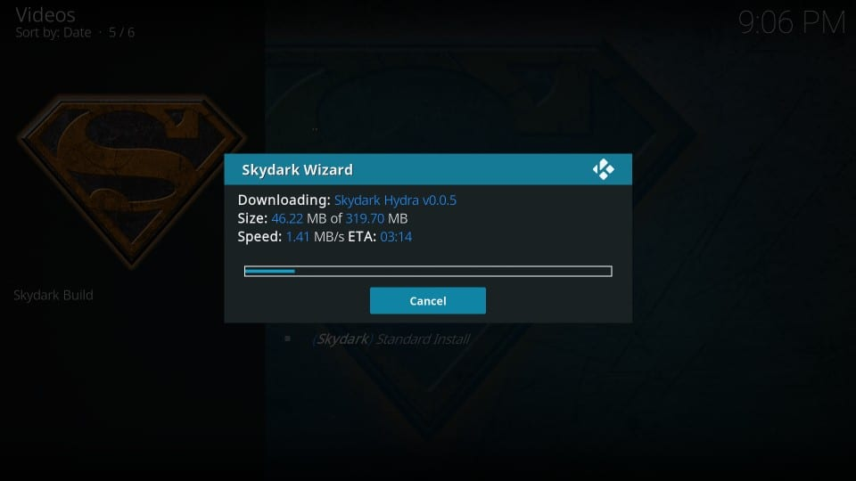 skydark kodi build