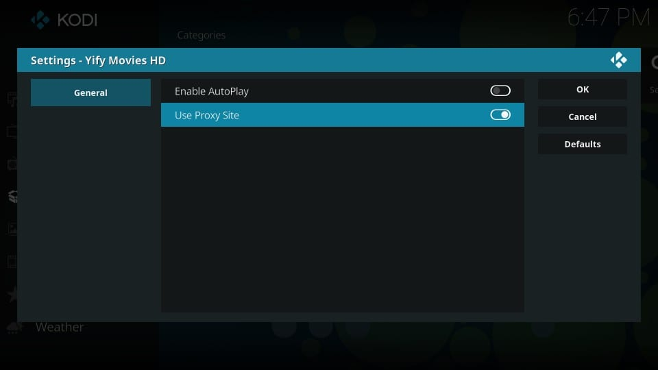 how to use yify movies kodi addon