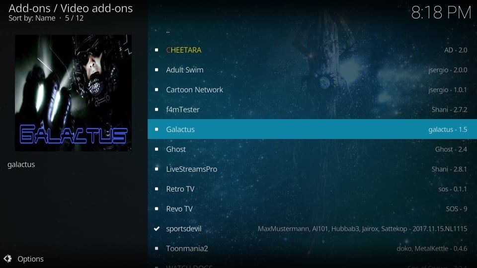 galactus addon on kodi