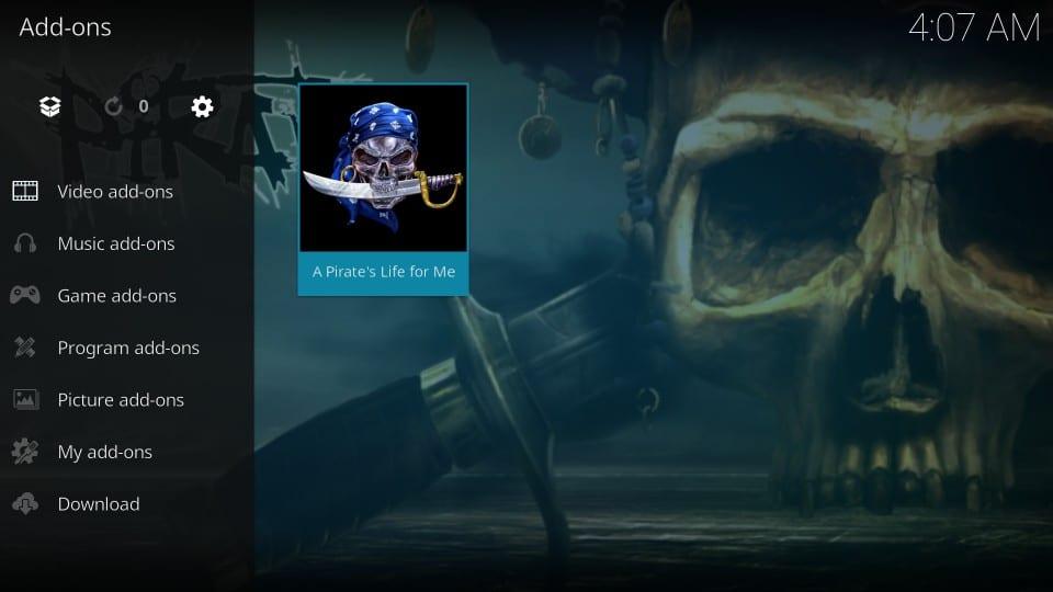 kodi addon a pirate's life for me