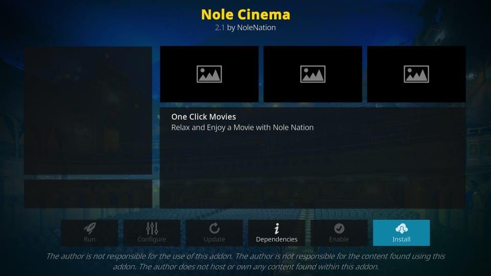 how to install nole cinema addon on kodi