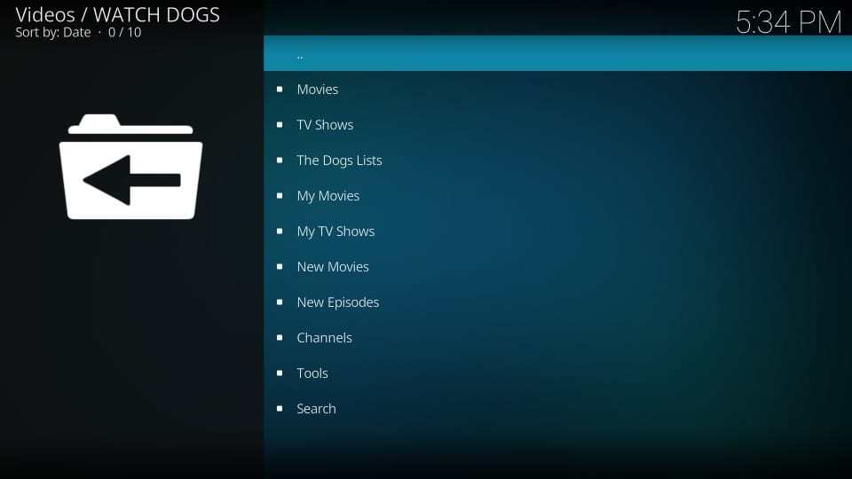 using the watch dogs addon on kodi