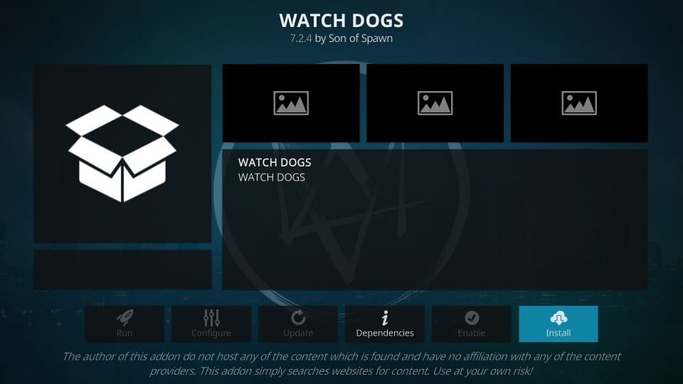 how to install watchdogs addon on kodi