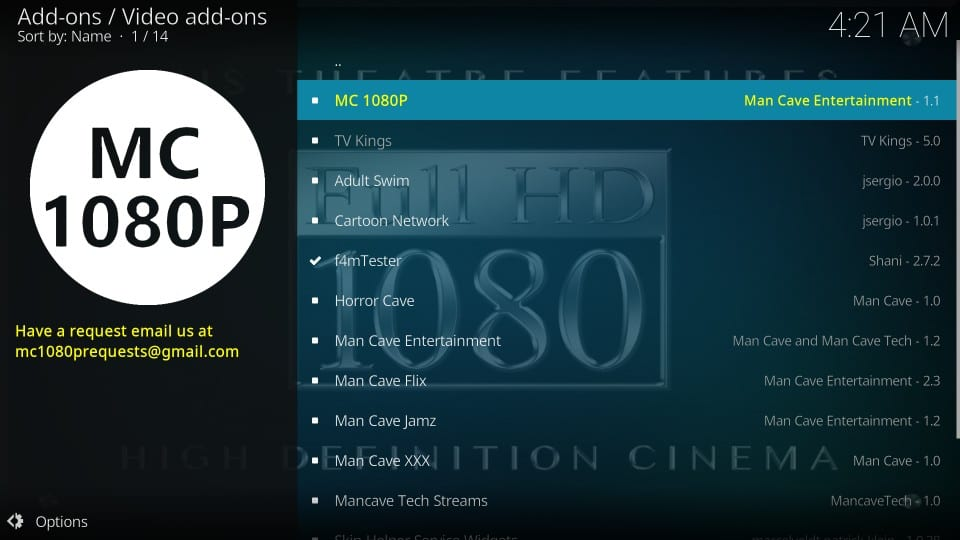 installing mc 1080p addon on kodi