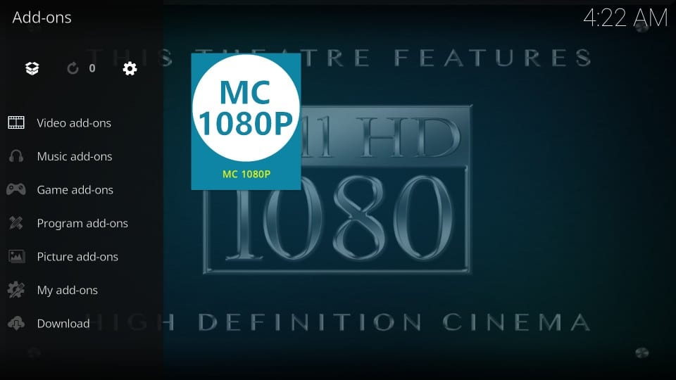 how to install and use mc 1080p kodi addon