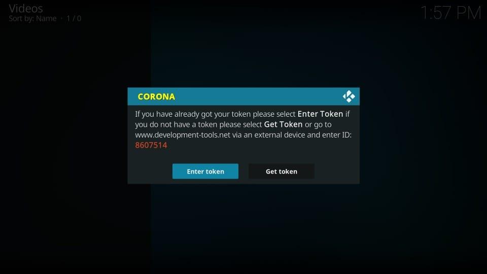 installing and using corona addon on kodi