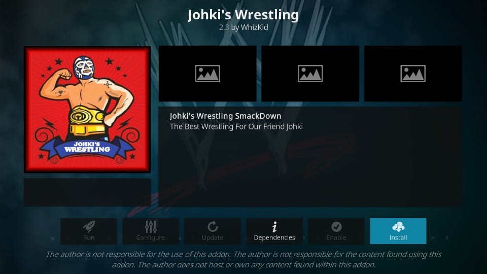 johki's wrestling kodi addon