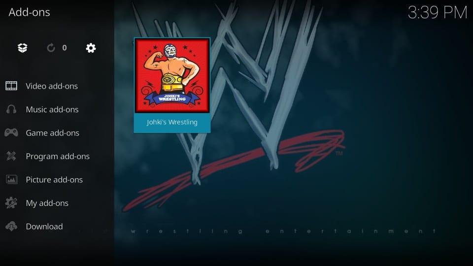 how to use johki's wrestling kodi addon