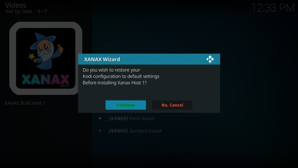 install xanax build on kodi