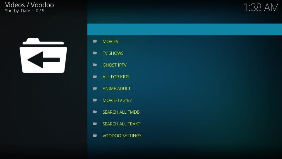 how to install and use voodoo addon on kodi