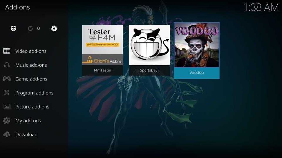how to use voodoo kodi addon