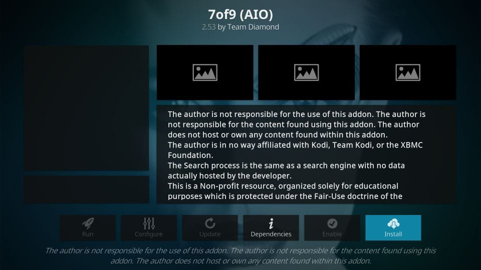 how to install 7 of 9 kodi addon