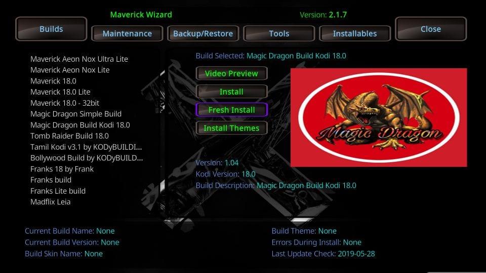 the magic dragon kodi build