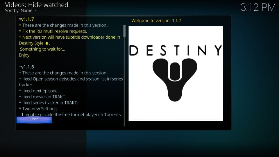 how to use destiny addon