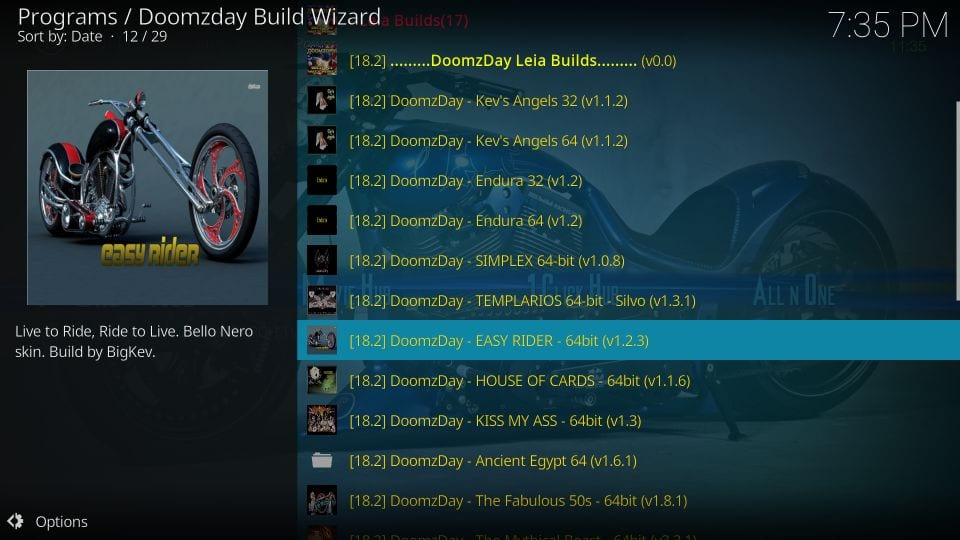 kodi doomzday builds